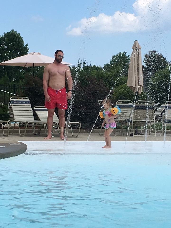 Day at the pool with my daughter @287lbs