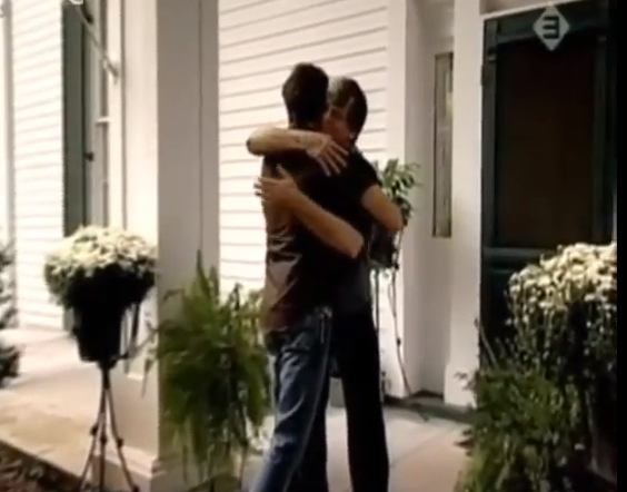 Phil greeting Jason at his mansion house in Nashville, from the Dutch interview of 2004