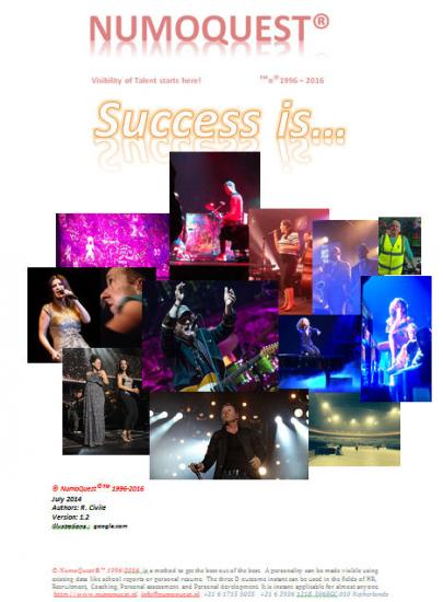 The best example of how to be SUCCESSFUL. Read the load of FUN and Oddness about it... http://numoquest.nl/Success%20is.pdf