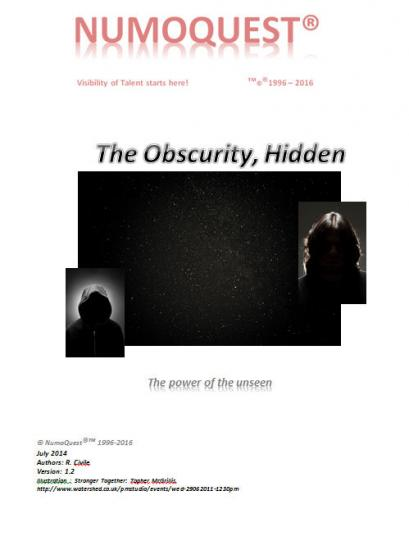 Afraid of the Dark? Teach your children and yourself how forceful Obscurity really is... http://numoquest.nl/Obscurity.pdf